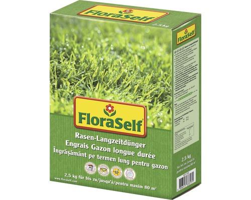 Engrais pour pelouse longue durée FloraSelf 2,5kg 80m²