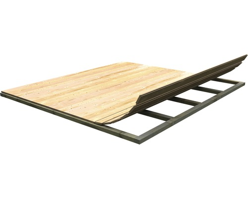 Plancher Karibu pour dimensions de socle 242x183cm naturel
