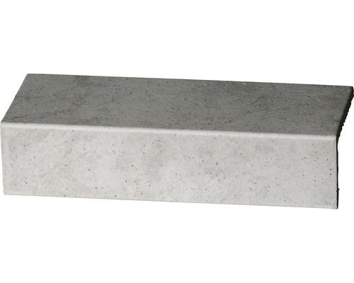 Barre longitudinale grès cérame Capra gris clair 24,5x10,5cm