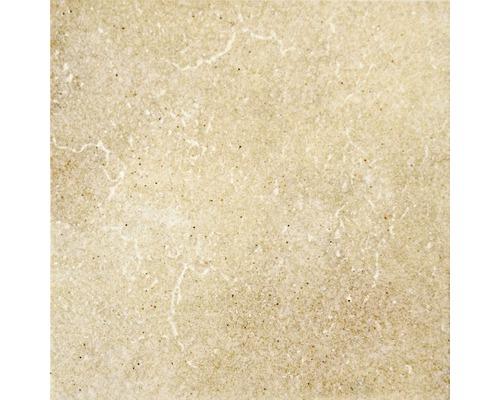 Carrelage pour sol en grès cérame Capra jaune crème 24,5x24,5cm