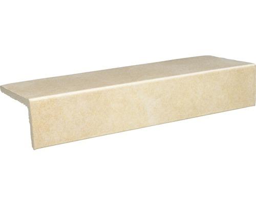 Barre longitudinale grès cérame Capra jaune crème 24,5x10,5 cm