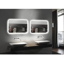 LED Badspiegel DSK Silver Juno 100x70 cm IP 24 (spritzwassergeschützt)-thumb-2
