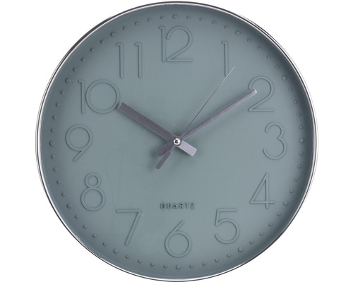Horloge murale gris/vert Ø 30,5cm