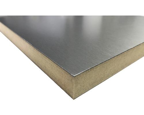 MDF Platte Echtmetalloberfläche Alu gebürstet 2800x1300x18,7 mm