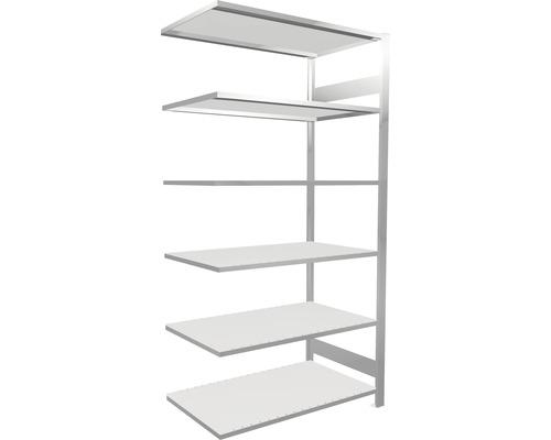 Étagère de bureau étagère complémentaire système d''emboîtement MULTIplus150 2000x1000x600 mm, RAL 7035 gris clair capacité de charge 1400 kg
