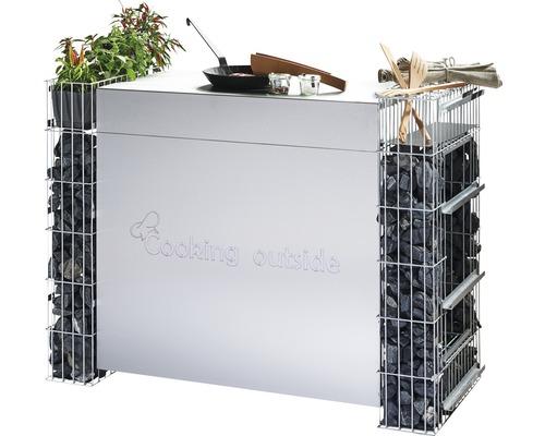 Cuisine extérieure Cooking outside module surface de travail large 89x49x89cm-0