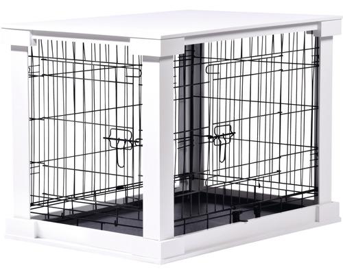 Boîte pour animaux avec surface table 83x55x59cm blanc