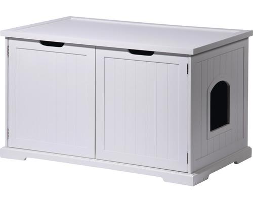 Armoire à chat Mohrle XL 95x54x57,5 cm blanc