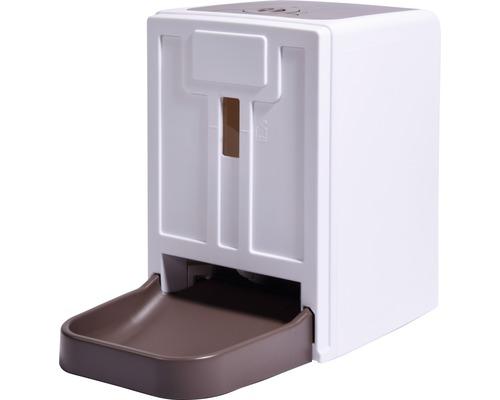 Distributeur automatique de nourriture pour chats et chiens 24x41,5x36,5 cm blanc