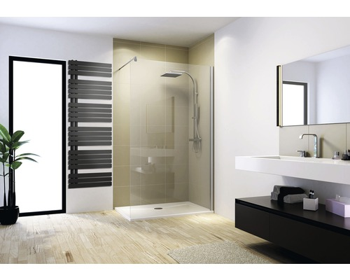 Paroi de douche à l''italienne M8 Schulte ExpressPlus MasterClass largeur 90 cm verre transparent couleur du profilé chrome