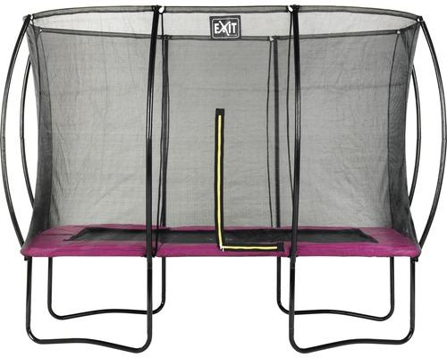 Trampoline EXIT Silhouette avec filet de sécurité 214x305 cm rose