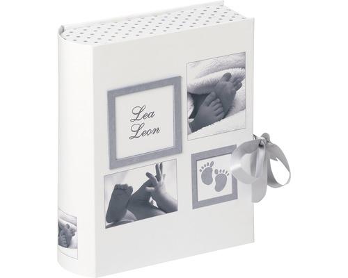 Boîte cadeau photo bébé Little Foot blanc 28,5x34x9 cm