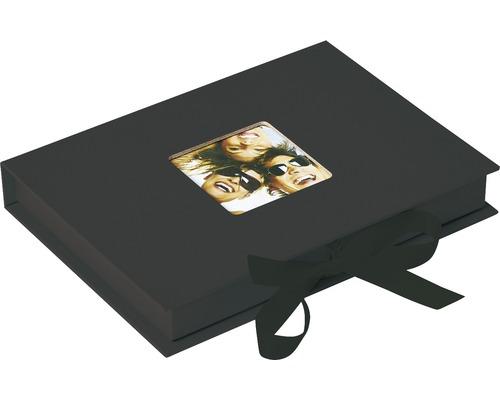 Boîte de rangement Fun noir 20x15x3 cm