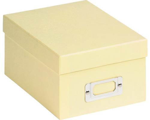 Boîte de rangement Fun crème 22x11x17 cm