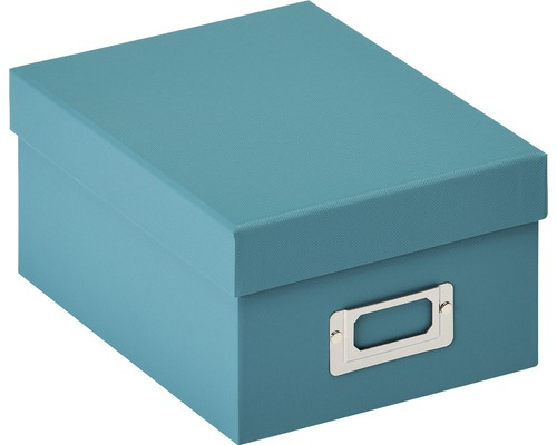Boîte de rangement Fun vert pétrole 22x11x17 cm