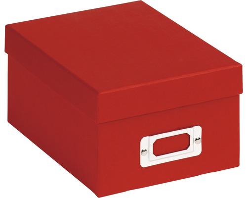 Boîte de rangement Fun rouge 22x11x17 cm
