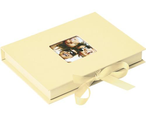 Boîte de rangement Fun crème 20x15x3 cm