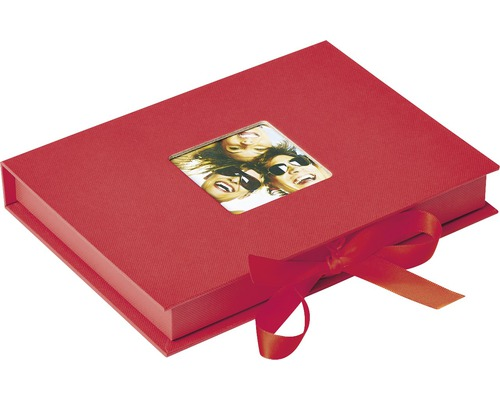Boîte de rangement Fun rouge 20x15x3 cm