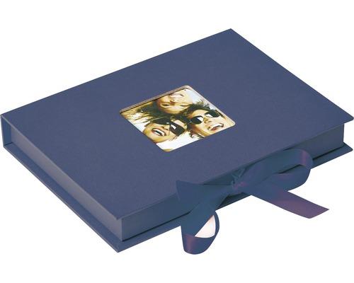 Boîte de rangement Fun bleu 20x15x3 cm