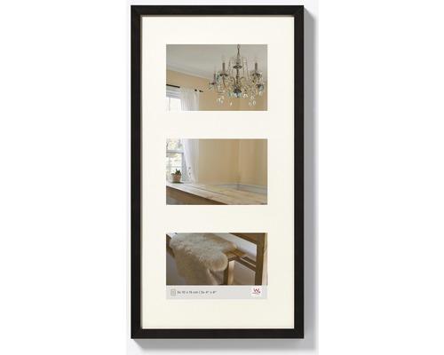 Cadre multivues Peppers 3 photos noir 25x48 cm