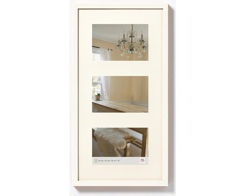Cadre multivues Peppers 3 photos blanc 25x48 cm