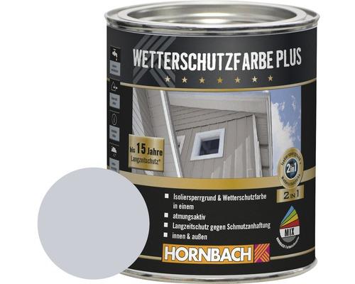 Holzfarbe Wetterschutzfarbe Plus silbergrau 750 ml