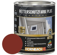 Peinture de protection du bois contre les intempéries Plus rouge Suède 750 ml
