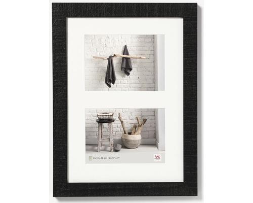 Cadre multivues 2 photos noir 29,9x40,1 cm
