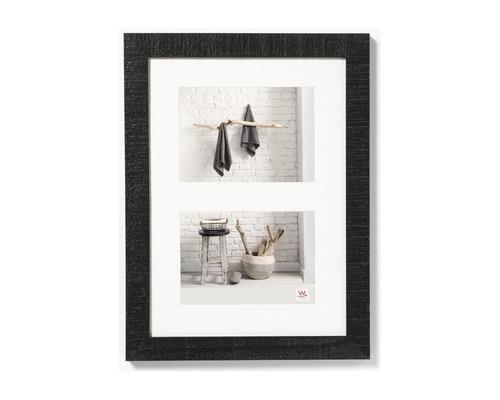 Cadre en bois Home, 2 photos, noir 15x20 cm