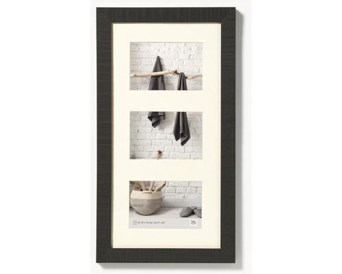 Cadre multivues 3 photos noir 27,5x50,5 cm