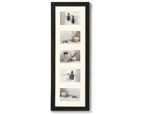 Cadre multivues 5 photos noir 27,5x80,5 cm