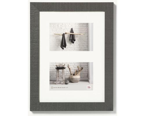 Cadre multivues 2 photos gris 29,9x40,1 cm