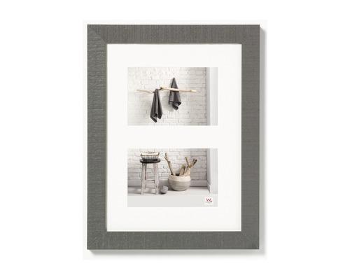 Cadre en bois Home gris 15x20 cm