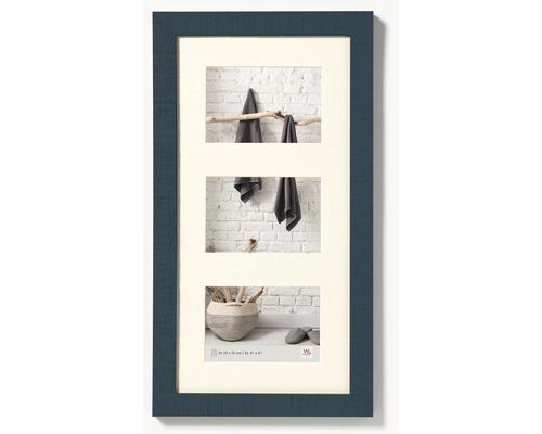 Cadre multivues 3 photos vert pétrol 27,5x50,5 cm