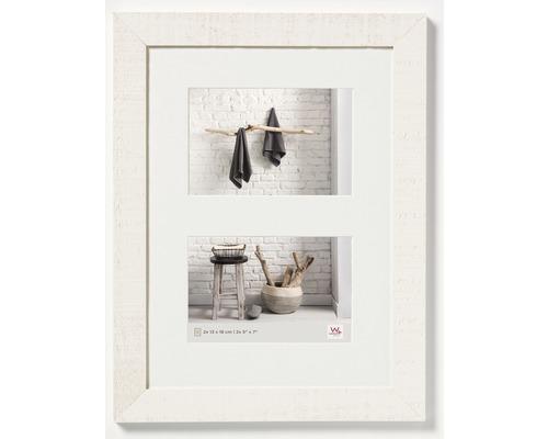Cadre multivues 2 photos blanc 29,9x40,1 cm