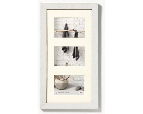 Cadre multivues 3 photos blanc 28,1x51,1 cm