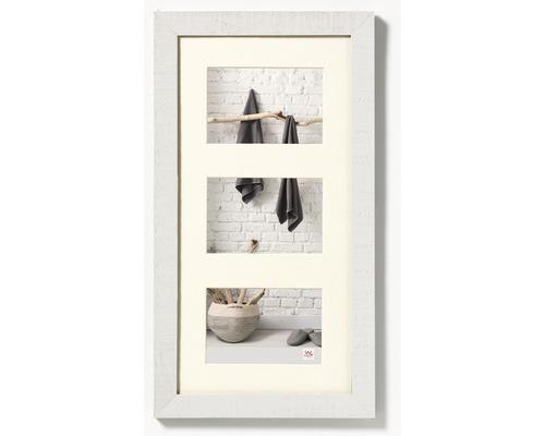 Cadre multivues 3 photos blanc 30,5x55,8 cm