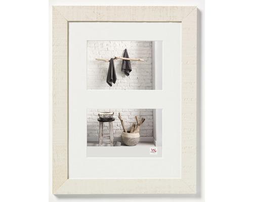 Cadre en bois Home, 2 photos, crème 15x20 cm