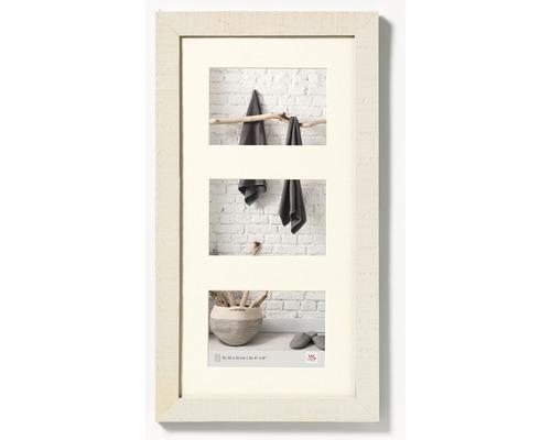 Cadre multivues 3 photos crème 27,5x50,5 cm
