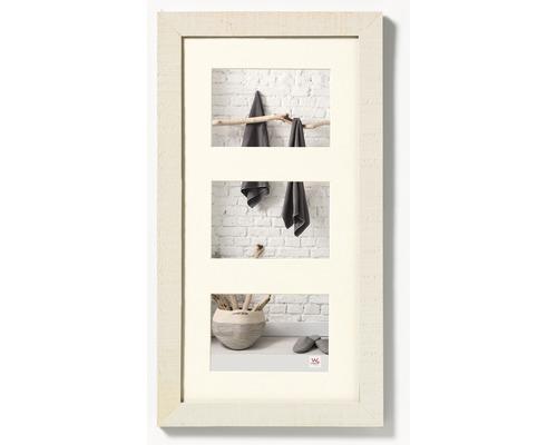 Cadre multivues 3 photos crème 29,9x55 cm