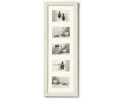 Cadre multivues 5 photos crème 27,5x80,5 cm