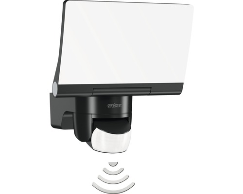 Projecteur à capteur LED Steinel avec fonction répéteur 14,8W 1184 lm 4000 K blanc neutre 194x180 mmr XLED Home 2 Smart Friends noir