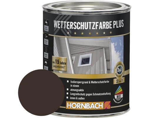 Holzfarbe Wetterschutzfarbe Plus dunkelbraun 750 ml