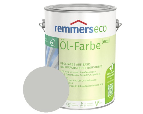 Remmers eco Öl-Farbe Holzfarbe RAL 7035 lichtgrau 750 ml