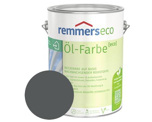 Remmers eco Öl-Farbe Holzfarbe RAL 7012 basaltgrau 750 ml
