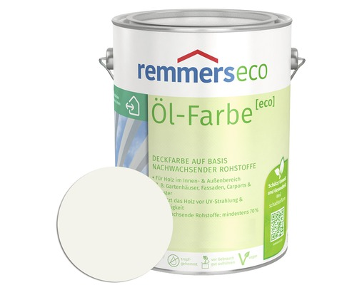 Remmers eco Öl-Farbe Holzfarbe RAL 9016 weiß 750 ml