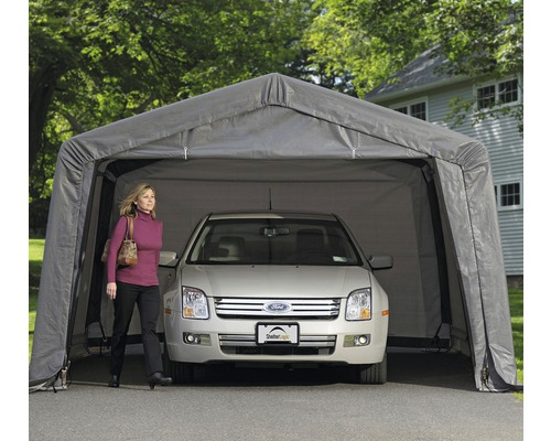 Garage simple ShelterLogic In-a-Box 370x490 cm gris