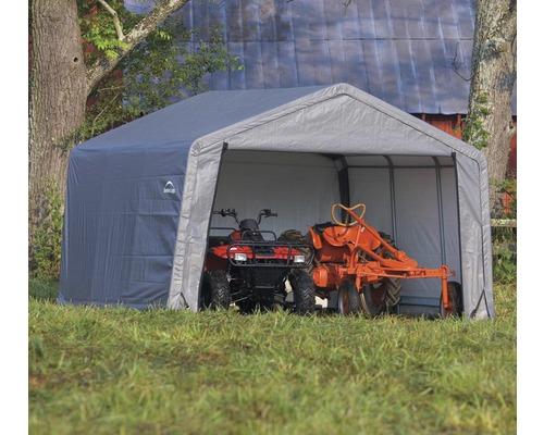 Abri à outils en métal ShelterLogic Shed-in-a-Box 370x370 cm gris