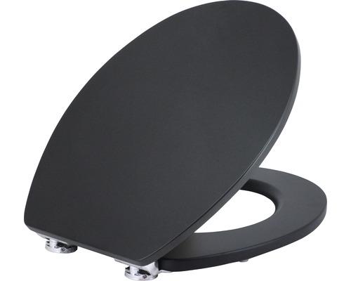Abattant WC form & style Black mat avec mécanisme d''abaissement automatique et Quick&Clean
