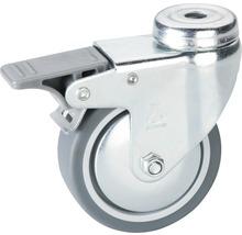 Roulette pivotante pour appareils de transport, blocable, jusqu''à 50 kg, 75 x 101 x 75 mm-thumb-0